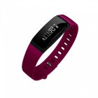 """V07 0.87"""" OLED Bluetooth IP67 Heart Rate Smart Band - Red"""