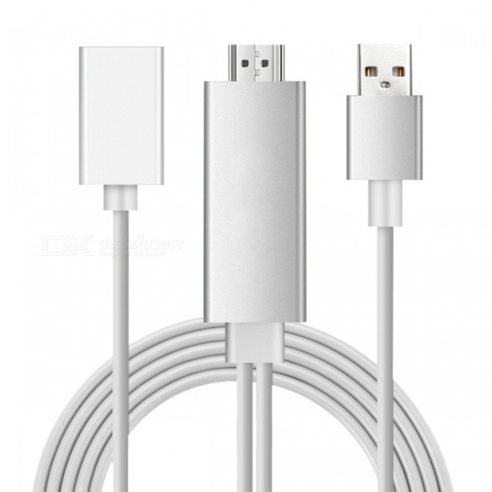 CA01FD USB to HDMI Adapter Cable for IOS Android - SilverAV Adapters And Converters<br>Form  ColorSilverModelCA01FDMaterialPlasticQuantity1 DX.PCM.Model.AttributeModel.UnitShade Of ColorSilverCable Length200 DX.PCM.Model.AttributeModel.UnitConnectorUSB,HDMIPower Supply5V 1APacking List1 x Adapter cable1 x English manual<br>