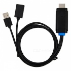 PTVwire CA04F USB to HDMI Adapter Cable for IPHONE / IPAD - Black