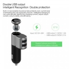 2-in-1 Vehicle-mounted Bluetooth Headset + Dual USB Car Charger