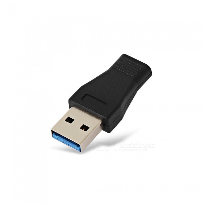 PVC USB 3.0 to USB 3.1 Type-C Adapter Connector - Black