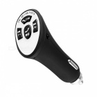 Bluetooth Car Charger Audio Receiver w/ FM Transmitter - Black