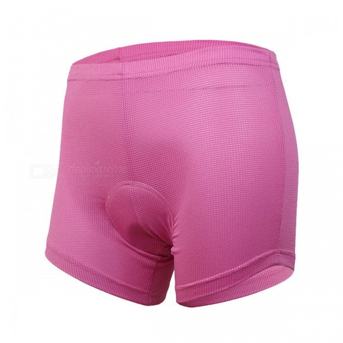 ARSUXEO Women Quick Dry Cycling Padded Shorts Underwear - Pink (M)