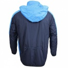 ARSUXEO Breathable Outdoor Long Sleeve Men's Rain Coat - Blue (L)