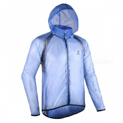 ARSUXEO Windproof Waterproof Men's Cycling Jacket - Blue (XXL)