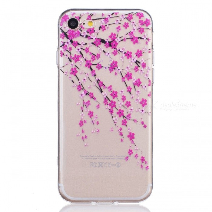 Peach Blossom TPU Protective Back Case Cover for IPHONE 7- TransparentTPU Cases<br>Form  ColorTransparent (Peach blossom)Quantity1 DX.PCM.Model.AttributeModel.UnitMaterialTPUCompatible ModelsiPhone 7DesignTransparent,GraphicStyleBack CasesPacking List1 x Back case<br>