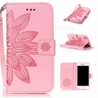 BLCR 3D Flower Pattern Leather Wallet Case for IPHONE 7 - Pink