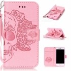 BLCR Skull Pattern Leather Wallet Case for IPHONE 7 - Pink