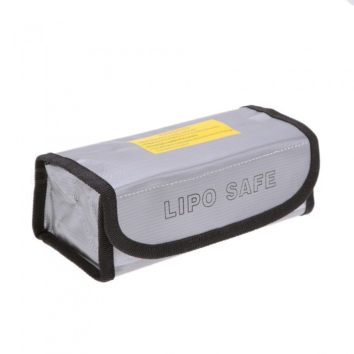 Portable Fireproof Explosion Proof Safety Bag For Lipo Battery Grey