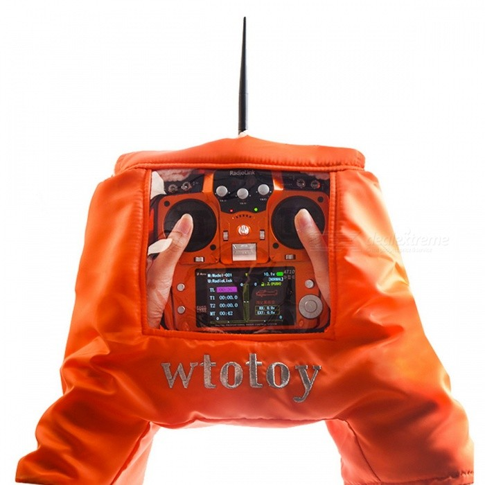Upgraded Windproof Warm Hand Glove for Transmitter - Orange