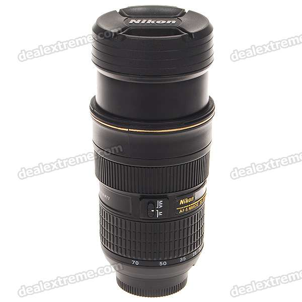 Unique Simulation Dummy Nikon Zoom Lens Thermos Mug Cup with Carrying Pouch (300ml)