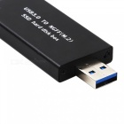 Cwxuan 80mm NGFF M2 SSD a USB 3.0 External HDD recinto - Negro