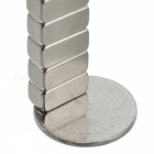 JEDX 10 * 5 * 5mm Rectangle Shaped NdFeB Magnets - Silver (10 PCS)