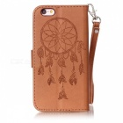 BLCR Dreamcatcher Pattern Leather Wallet Case for IPHONE 6/6S - Brown
