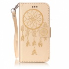BLCR Dreamcatcher Pattern Nahkainen suojakotelo iPhone 6 / 6S - Golden