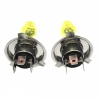 H4 12V 100/90W 3000K Yellow Light Car Halogen Headlamps (2PCS)