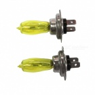 H7 12V 100W 3000K Yellow Light Car halogeenivalonheittimiä (2PCS)