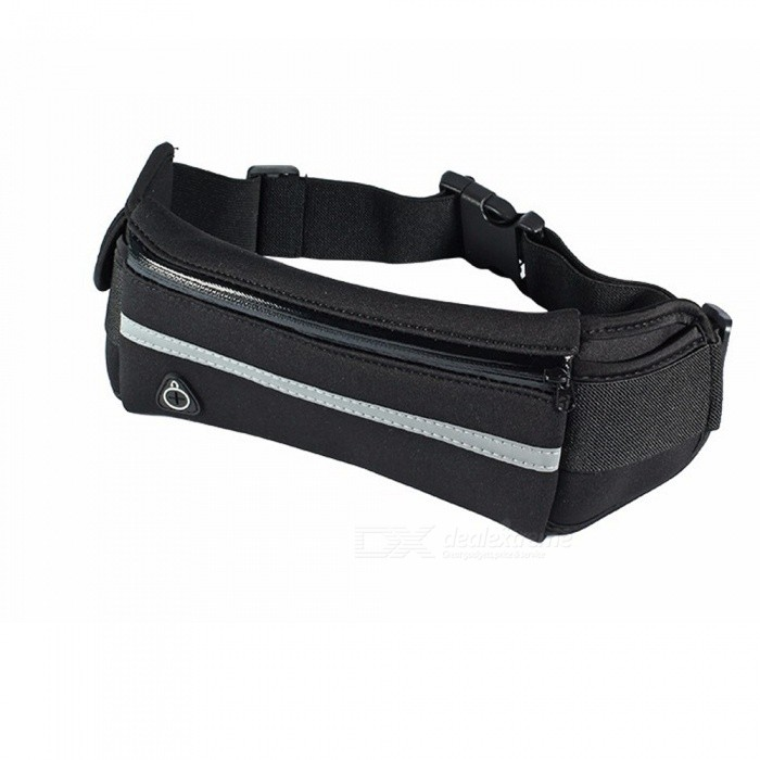 KICCY Waterproof Outdoor Sports Running Mobile Phone Bag - BlackArmbands<br>Form ColorBlackModelN/AMaterialHigh quality nylon and soft spongeQuantity1 pieceShade Of ColorBlackCompatible ModelsAny typeCompatible SizeApply to below 6.0 inch phoneBand Length39 cmPacking List1 x Waist bag<br>