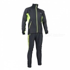 Arsuxeo Cycling Long Sleeve Men's Jacket + Pant - Black + Green (XL)