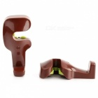 KICCY ABS Car Backseat Headrest Hanger Hooks (2 PCS) - Brownish Red