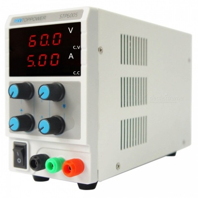 SKY TOPPOWER STP6005 Adjustable 60V / 5A / 300W DC Power Supply- White