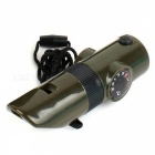 ZHISHUNJIA 7-in-1-monitoimitulostin Outdoor Survival Whistle (2 x CR2016)