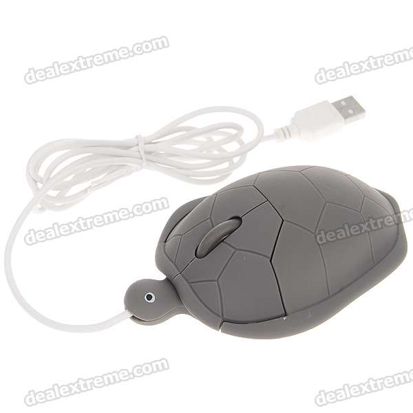 Cute Tortoise Shaped Optical Mouse (120CM-Cable)