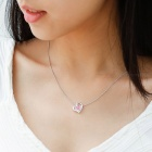 SILVERAGE 925 Sterling Silver Fine Jewelry Pendant Necklace - Pink