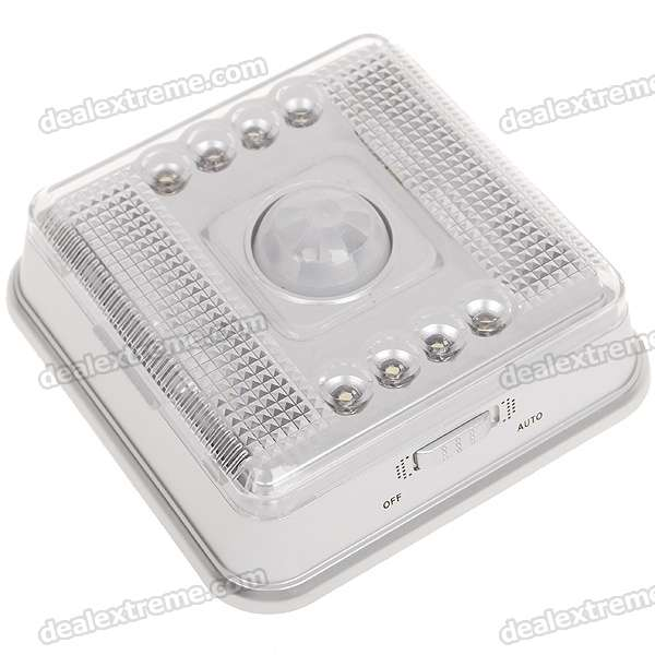 8-LED Infrared Sensor Motion Activated White Light (2*AA)  aa 2 8 8 54k