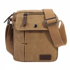 KAUKKO FJ49 Unisex Outdoor Sports Canvas Shoulder Bag - Khaki