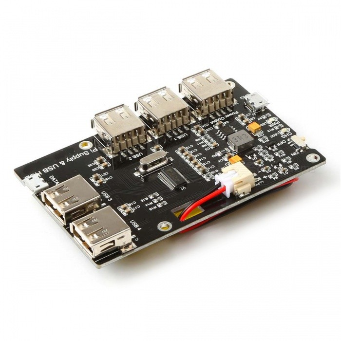 Lithium Battery & 4-USB Hub Expansion Board for Raspberry ...