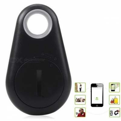 KICCY Water Drop Shaped Smart Bluetooth 4.0 Tracker GPS Locator- Black