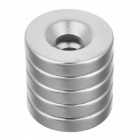 JEDX 18 x 4mm 4mm NdFeB Neodymium Cylinder Magnets - Silver (5 PCS)