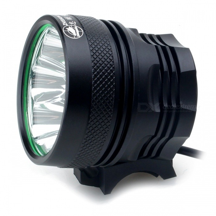 ZHISHUNJIA B7 7-LED 3-Mode Cold White Bike Light / Headlamp - Musta