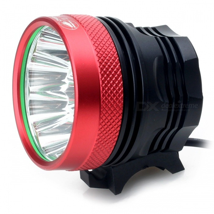 ZHISHUNJIA B11 T6 11-LED 3-Mode Cold White Bike Light / Headlamp - Red