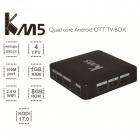GULEEK KM5 Amlogic S905X Quad-core Android 6.0 Smart TV Player-Musta