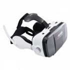 KICCY VR BOSS Virtual Reality 3D Glasses w/ Earphones - White + Black