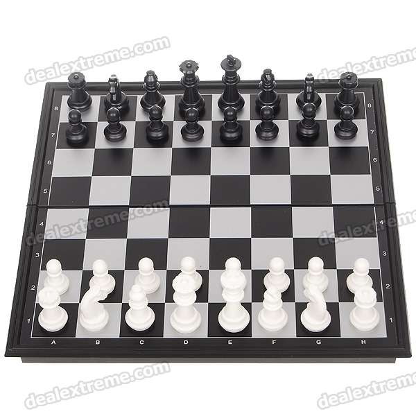 Portable Magnetic Chess Game Set in Folding Box - Medium