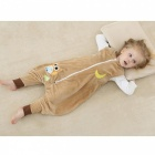 Cartoon Flannel Sleeping Bag for 13~24 Months Old Kids - Brown + White
