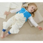 Cartoon Flannel Sleeping Bag for 13-24 Months Old Kids - Sky Blue