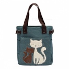 KAUKKO GW093 10L Cute Cat Pattern Handbag for Women - Green