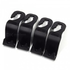 Portable Car Seat Backrest Headrest Hooks / Bag Hangers (4PCS) - Black