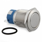 QooK 19mm 12V Push Button Metal Switch for Car - Silvery White