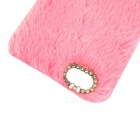 Rabbit Fur with Diamond Cover Shell for IPHONE 6/6S 4.7 inch - Pink