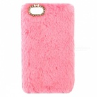 Rabbit Fur Diamond Cover Shell IPHONE 7 4,7 tuuman - vaaleanpunainen