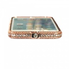 Crown Series Protective Frame w/ Decorative Rhinestones - Rose Golden