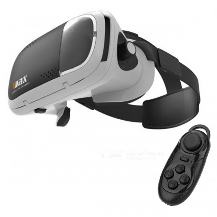 RITECH VR MAX 3D Glasses + Bluetooth Controller - White + Black