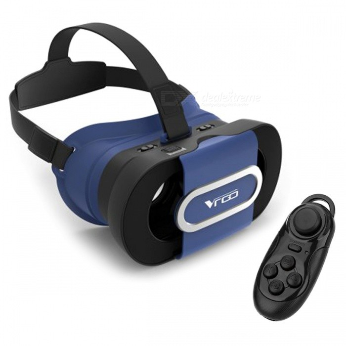 RITECH VR GO 3D Glasses + Bluetooth Controller - Blue + Black