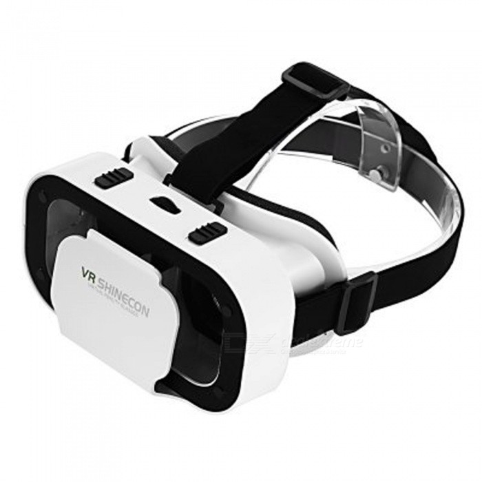 "SHINECON G05A 3D VR Glasses for 4.7"" - 5.5"" Phones - White + Black"