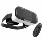SHINECON 3D Glassess VR Headset + Bluetooth Controller - White + Black